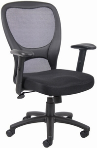Boss Black Mesh Office Chair [B6508]