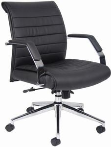 Boss Office Chairs ribbed office chairs - boss contemporary mid back ribbed office