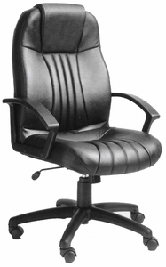 Boss Contoured Leather Executive Chair [B7641]