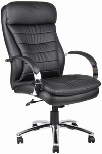 executive leather office chair - boss executive caressoft plus