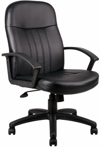 Merveilleux Boss Full Back Leather Desk Chair [B8106]