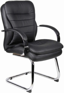 Genial Boss Guest Chair   Sled Base [B9229]
