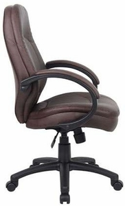 Boss LeatherPlus Conference Chair [B726BB]