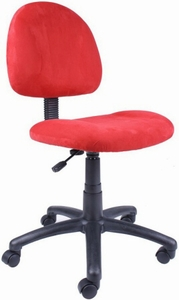 Boss Red, Pink or Blue Microfiber Task Chair [B325]