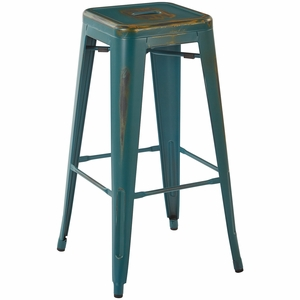 Bristow 30 Quot Metal Stool Antique Turquoise 4 Pack