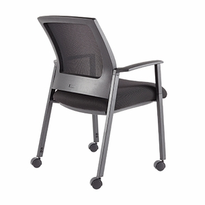 Casso Mesh Multipurpose Chair with Casters, Black, Set of 2 [CS500CSTR]