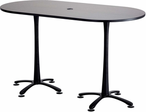 ChaCha Conference Table Racetrack X Asian Night Black - 72 x 36 conference table