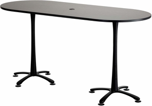 ChaCha Conference Table Racetrack X Asian Night Black - 36 conference table