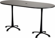 "Cha-Cha� Conference Table Racetrack 84 x 42"" Asian Night & Black [2553ANBL]"