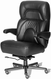 ERA Chairman Big And Tall Leather Chair With Wide Seat [CHRM]