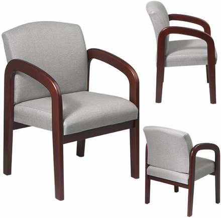 Work Smart Wood Visitors Chair in Cherry or Espresso [WD388]
