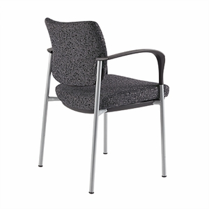 Chevril Cushioned Guest Chair with Arms, Black [CV500FBK]