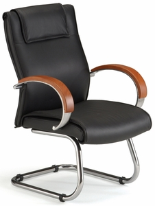Conference Chair With Wood Accents [565 L]