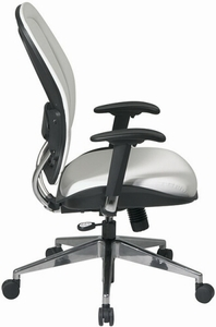 Space Seating Contemporary White Vinyl Office Chair [33-Y22P91A8]