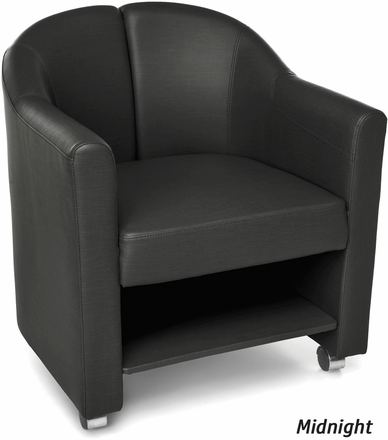 Contour Mobile Club Chair Vinyl Back Amp Seat With Casters 880