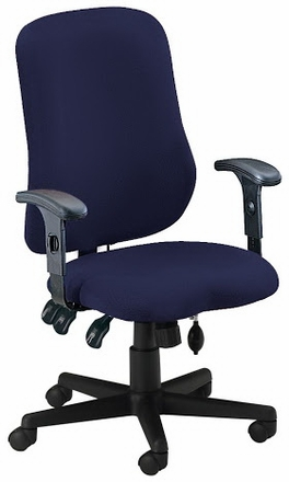 Mayline Adjustable Ergonomic Office Chair with Inflatable Lumbar ...
