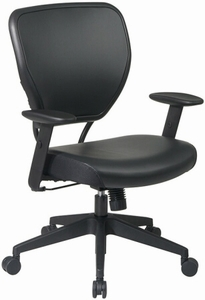 Space Seating Deluxe Black Vinyl Task Chair [5500V]