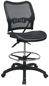 Space Seating Deluxe Full Mesh Drafting Chair [13-77N30D]