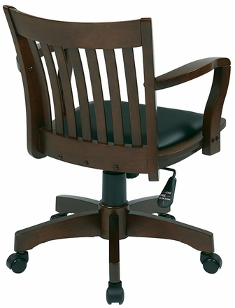OSP Designs Deluxe Wood Bankers Desk Chair [108FW]
