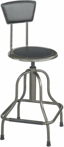 Diesel Stool High Base with Back Steel [6664]