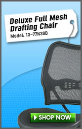Deluxe Full Mesh Drafting Chair