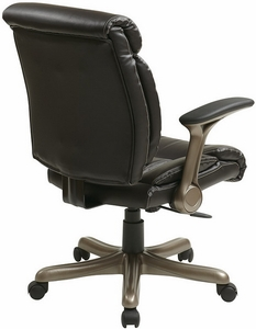 Work Smart Eco Leather Task Chair with Flip Arms [ECH8967R5]