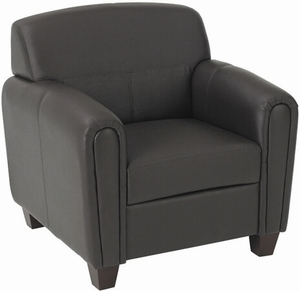 OSP Furniture® Espresso Faux Leather Lounge Chair [SL2571]