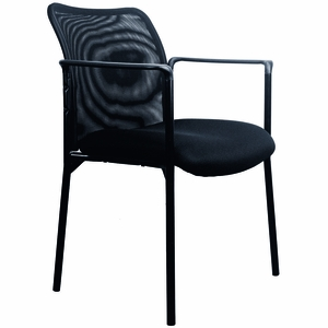 Essentials By OFM Mesh Upholstered Stacking Side Chair With Arms [ESS 8010]
