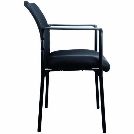 Essentials by OFM Mesh Upholstered Stacking Side Chair with Arms [ESS-8010]