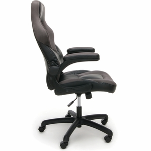 Essentials by OFM Racing Style Gray Mesh Leather Gaming Chair [ESS-3085-GRY]