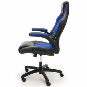 Essentials by OFM Racing Style Blue Mesh Leather Gaming Chair [ESS-3086-BLU]