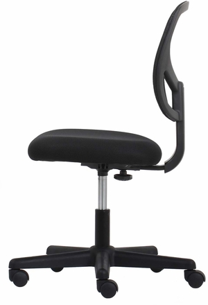 Essentials Swivel Mesh Armless Task Chair, Black [ESS-3000]