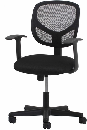 Essentials Swivel Mesh Task Chair with Arms, Black [ESS-3001]
