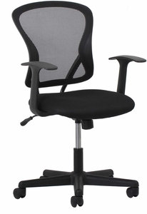 sc 1 st  Office Chairs Unlimited & Essentials Swivel Mesh Task Chair with Arms Black [ESS-3011]