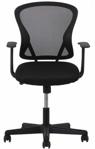 Essentials Swivel Mesh Task Chair with Arms, Black [ESS-3011]