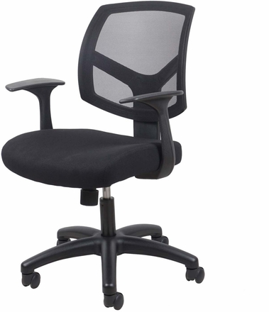 Essentials Swivel Mesh Task Chair with Arms, Black [ESS-3030]