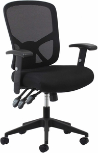 Essentials High-Back Mesh Task Chair with Arms, Black [ESS-3050]