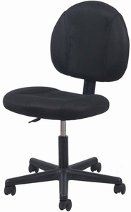 Essential Swivel Upholstered Armless Task Chair, Black [ESS-3060]