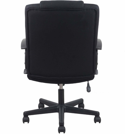 Essentials Swivel Upholstered Task Chair with Arms, Black [ESS-3080]