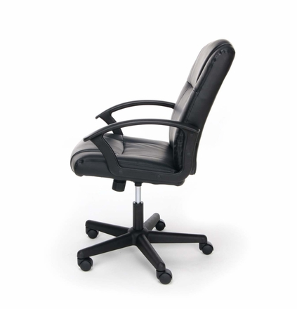 Essentials Leather Executive Office Chair with Arms, Black [ESS-6000]