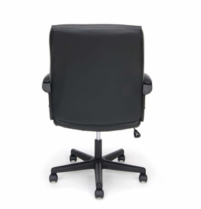 Essentials Leather Executive Office Chair with Arms, Black [ESS-6010]