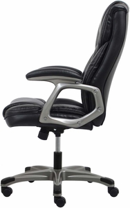 Essentials Hi-Back Leather Executive Office Chair with Arms [ESS-6030]