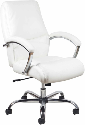 Essentials Hi-Back Leather Executive Office Chair with Arms [ESS-6070]