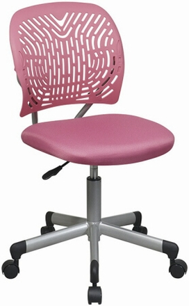 Flex Back Pink Computer Chair For Girls Room 166006