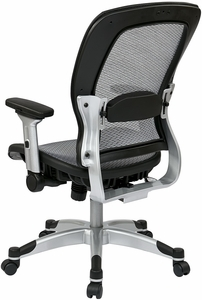 Space Seating Full Mesh Office Chair, Optional Headrest [327-66C61F6]