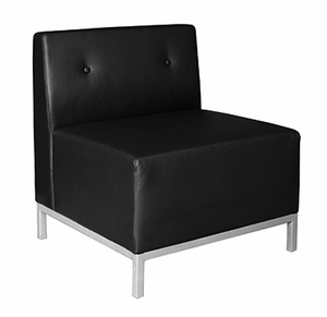 fulmont modular sofa single seat black leather fl600lbk