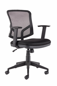 Gioalla Swivel / Tilt Mesh Chair, Black [GL100MBK]