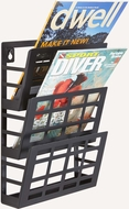 Grid Magazine Rack 3 Pocket Black [4660BL]