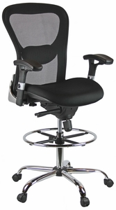 Harwick Deluxe Ergonomic Mesh Drafting Stool [3052D]