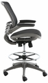 Harwick Evolve� All Mesh Heavy Duty Drafting Chair With Gunmetal Finish [2250D-BK]